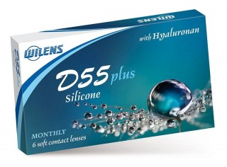 Měsíční čočky D55 Plus Silicone (6 čoček)